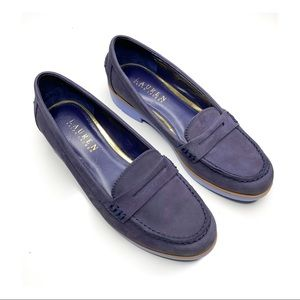 Ralph Lauren | Nubuck |  Lisette leather Loafers